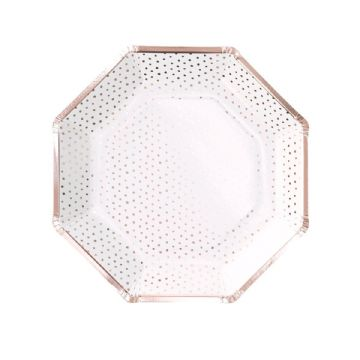 Ros Gold Spotty Paper Plates
